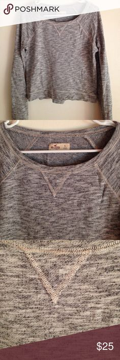 📍📍SALE📍📍📍❤️❌Hollister Crop Sweatshirt Hollister Cropped Gray Pullover Sweatshirt gray flower child style, fashion clothing, beauty, career, colors, patterns, party, sexy, cocktail, evening, formal, pageant, bridesmaid, wedding, new, summer sandal, beach, resort, vacation, teens, adults, woman, pretty girl, in style, trends, season runway show Hollister Tops Sweatshirts & Hoodies