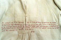 """Broderie d'Art Marie-France DUBROMEL, """"mercière ambulante"""" La Mercerie Ambulante: Histoire de vécu de Frédéric, 2001 Mercerie ambulante"""