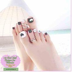 Summer Blue White Stripe Toes Nail Art Tips Pre Design Full Cover . Glitter Toe Nails, Diy Nails, Swag Nails, Feet Nail Design, Pedicure Nail Designs, Toe Nail Designs, Manicure And Pedicure, Pretty Toe Nails, Toe Nail Art