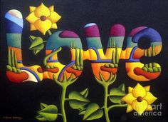 Painting by Alan Kenny. I love the colours and shapes