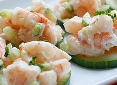 Wheat Free Bliss: Shrimp Salad on Cucumber Slices