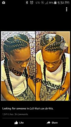 87 Cornrow Hairstyles for Black Women Ideas in Next time you're stuck trying to think up new ideas for your natural hair, try one of these stunning looks. Whether you have short hair, long braids, ., Cornrow Hairstyles for Black Women African Braids Hairstyles, Girl Hairstyles, Braided Hairstyles, Black Hairstyles, Black Girl Braids, Girls Braids, French Braids Black Hair, Street Style Inspiration, Hair Inspiration
