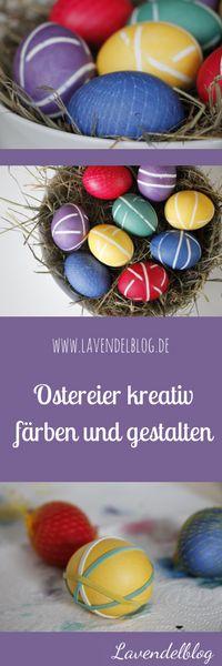 Ostereier mit Muster färben: Im Blog zeigen wir euch verschiedene Ideen, wie ihr eure mit Haushaltsgegenständen Ostereier kreativ färben und dekorieren könnt. Mit dabei: Gummibändern, Netze, Blüten, Blätter und Gräser.