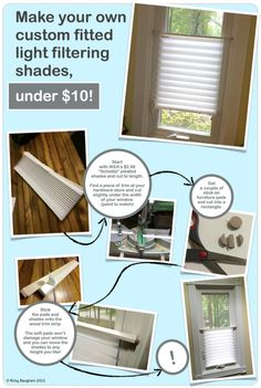 IKEA schottis custom shades - OMG! this is perfect for my bedside windows! Just what I wanted, but didn't know how to do it. Sweet!