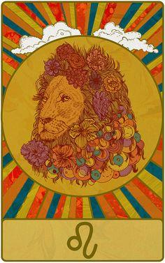 Today's Leo Birthday Horoscope: Astrology Insight Now Zodiac Art, Leo Zodiac, Photo Wall Collage, Collage Art, Lion Illustration, Leo Girl, Leo Birthday, Hippie Art, Aesthetic Art