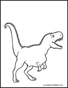 Dinosaure coloriage dinosaure gratuit imprimer d co enfants coloriage dinosaure dinosaure - Modele dessin dinosaure ...