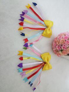 Hair Ribbons, Ribbon Hair, Ribbon Bows, Crazy Hair Days, Heart Crafts, Love Craft, Cheer Bows, Diy Stuffed Animals, Pet Shop