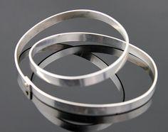 Betty Cooke Modernist Sterling/14K Orbital Bracelet