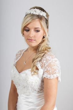 Corded lace tiara TR1530A by Richard Designs