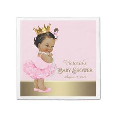 Ethnic Princess Pink Gold Child Bathe Paper Serviette. *** Check out even more at the image link