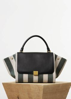 38582cd96fad ... ea8a6ec9542 Small Trapeze Bag in Textile with Stripes - Spring Summer  Runway 2015 ...