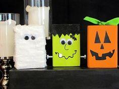 painted wood blocks for halloween