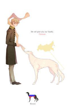 Hetalia + dogs? Yes, please.