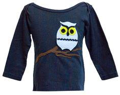 """Decaf Plush """"Owl"""" Bodysuit or T-Shirt"""