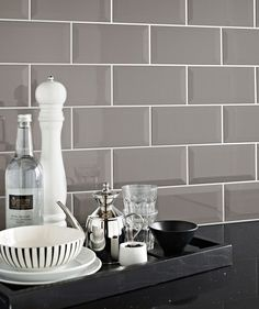 Metro Grey tiles for fire place