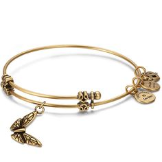 #Soufeel - #Soufeel Butterfly Charm Bangle Gold Plated - AdoreWe.com