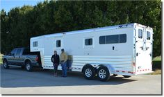 Pictured here is Anna Corley from Austin, TX with her dealer rep, Kevin Cross from 4-Star Trailers, Inc. Anna ordered her new 2+1 4-Star Trailer from Rob King at Murphy Trailer Sales. She just picked it up and is headed south!! Thank you Anna, safe travels and enjoy!! (765) 366-5866