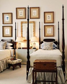guest room. twin beds