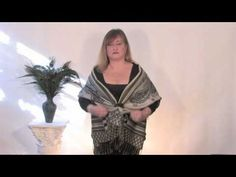 Unique Ways To Tie a Scarf and Wear a Shawl, Part 1 by The Proud Peacock 2011 - YouTube
