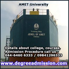 AMET University  Details about #AMET University Chennai, #Engineering Admission, Maritime Course details, Fee structure call us 044-6460 6333 / 09841296333 http://www.degreeadmission.com/amet-university.html