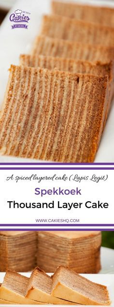 Spekkoek is a Dutch-Indonesian layered cake. Also known as spekkuk and kue lapis legit or 'Thousand Layer Cake' due to the many layers the cake is made of. | Spekkoek Recipe | #spekkoek #recipe #recipes #recipeoftheday