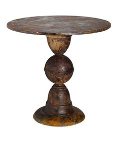 Another great find on #zulily! Rustic Round Bell Table by Established 98, $110  #zulilyfinds