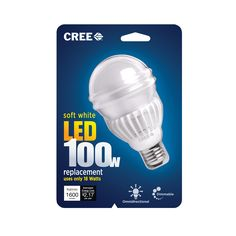 Cree's 100 watt LED light bulb use is only 18 watts