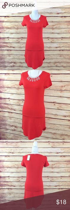 "Bundle 6 for $25 • NWT Blood Orange T-Shirt Dress 🔹BUNDLE any 6 items for $25! 🔹Like 6 items 🔹Add the items to a bundle 🔹Make bundle offer for $25!  ▫️Brand: Heart & Hips ▫️Size: M ▫️Material: Cotton/Polyester/Spandex ▫Condition: NWT ▫️Flaws: None  ▫️Description:  •Crew neck •Short sleeves •Scallop hem •Slim fit  ▫️Measurements Laying Flat: •Chest: 15"" •Length: 33.5"" •Shipping Weight: 6oz  ▪️NO Trade/Hold ▪️Next Day Shipping ▪️Smoke Free/Kitty Friendly Home Boutique Dresses Mini"