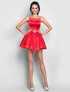 una línea primicia corto vestido de cóctel de satén / prom /... – USD $ 79.29