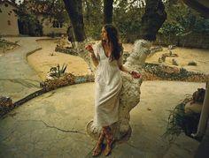 fashion editorials, shows, campaigns & more!: bohemian like you: irina kulikova by emma hardy for baku summer 2015 White Fashion, Boho Fashion, Ethnic Outfits, Cactus Flower, Bohemian Style, Hippie Style, Boho Chic, Fashion Story, Boho Wedding Dress