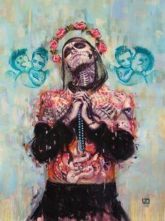 Portrait of Rick Genest aka Zombie Boy Art Print by vanessa_dakinsky Rick Genest, Ghost In The Machine, Art Brut, Art Et Illustration, Boy Art, Skull And Bones, Skull Art, Akita, Urban Art