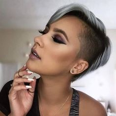 Baddie Hairstyles 60 Undercut Hairstyles For Women That Really Stand Out - NiceStyles.Baddie Hairstyles 60 Undercut Hairstyles For Women That Really Stand Out - NiceStyles Undercut Hairstyles, Pixie Hairstyles, Pixie Haircut, Cool Hairstyles, Undercut Pixie, Side Undercut, Undercut Women, Baddie Hairstyles, Shaved Hairstyles