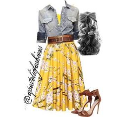 Apostolic Fashions #492 by apostolicfashions on Polyvore featuring American Vintage, Dolce&Gabbana, Steve Madden and Elie Saab
