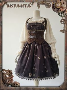 Infanta -Antique Mechanical Doll- Steampunk Lolita Casual Lolita JSK