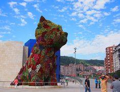 Jeff Koons Köpek Heykeli, Guggenheim Müzesi, Bilbao, İspanya