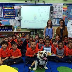 Sharing the lessons of #goodboyblue w/ the Success Academy Charter School in Brooklyn. Their teacher, @Charlotte Dial is a 2009 @Butler University grad. Most well mannered kids we've visited! #bigdawgstour