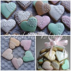 Lace cookies, pastel