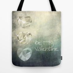 Be MY Valentine Tote Bag by Pia Schneider [atelier COLOUR-VISION] #valentinesday #giftidea #happyvalentinesday #valentinesgiftidea #art #hearts #love #lovethemes #graphicdesign #textures #abstraction #polygone #typography #words #softcolored #blue #yellow #white #grey  #piaschneider #ateliercolourvision #bag #totebag #accessoires #fashion