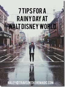 """Is rain in the forecast for your next vacation? Use these tips to make the most of your rainy day at Walt Disney World!"""