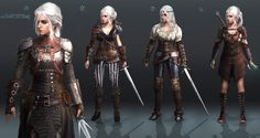 Ciri Redesign – Game charcter redesign