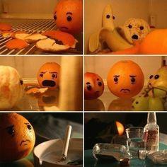 Homme mandarine trompé ;)