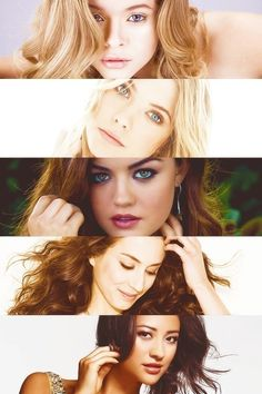 PLL girls ♥ no fair three to one think...........what do alison and hanna have in common but not the others