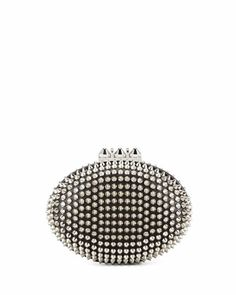 Spiked Clutch Bag, Black/Silver by Christian Louboutin at Bergdorf Goodman.