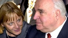 Helmut Kohl und Angela Merkel im September 2000 bei einer Veranstaltung zum zehnten Jahrestag der Wiedervereinigung. Helmut Kohl, Interview, Germany, September, Fotografia, Angela Merkel, Reunification, Politics, Studying