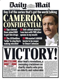 Oh this just gets better. Cameron threatening national security by asking KGB for drugs #piggate
