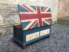 British Flag/Union Jack Chalk Paint™ chest painted by Kathie ...