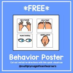 Behavior Interventions, Visual Cue, Student, Poster, Billboard