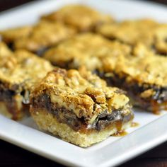 We are kicking off Cookie Week on Rock Recipes with these delicious Chocolate Walnut Butter Tart Bars. These have the great taste of a classic Canadian Butter Tart with the added crunch of toasty waln (You Are My Favorite Cookie Recipes) Köstliche Desserts, Delicious Desserts, Dessert Recipes, Delicious Chocolate, Vegetarian Chocolate, Canadian Butter Tarts, Brownies, Newfoundland Recipes, Rock Recipes