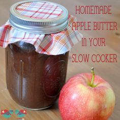 How to make Homemade Apple Butter in your Slow Cooker! This easy recipe can even be cooked in your crock pot over night; wake up to a delicious smelling home! @ The Love Nerds {http://thelovenerds.com}