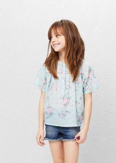 Blouse à fleurs coton -  Enfants   MANGO Kids France